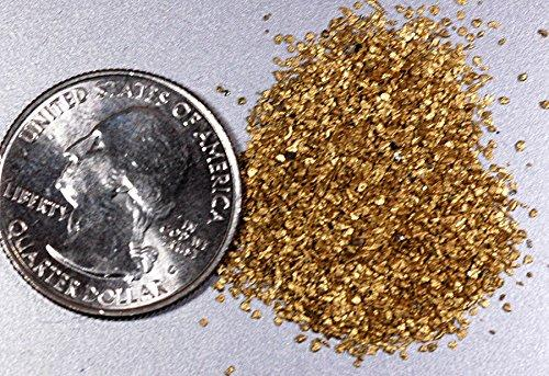 Alaskan Yukon Gold Rush Nuggets #30 Mesh 5 Grams Of Super Small Fines Bc Flake