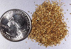 Alaskan Yukon Gold Rush Nuggets #50 Mesh 10 Grams Of Super -Super Small Fines Bc Flake