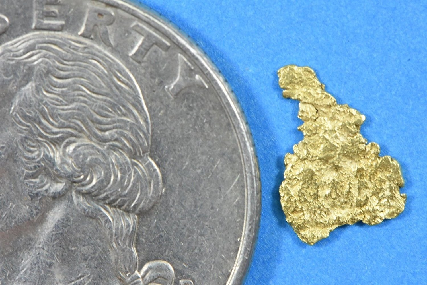 Alaskan-Yukon Bc Gold Rush Natural Nugget 0.13 Grams Genuine Alaska .10-.34