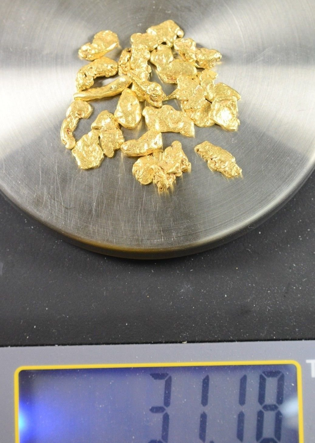 Alaskan-Yukon Bc Natural Gold Nugget #4 Mesh 5 Troy Ounce 155.5 Gram Alaskan Flake Nuggets