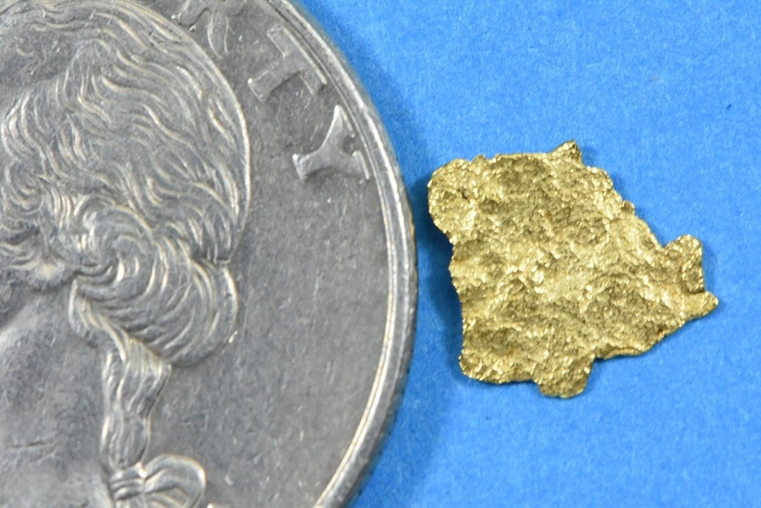 Alaskan-Yukon Bc Gold Rush Natural Nugget 0.23 Grams Genuine Alaska .10-.34