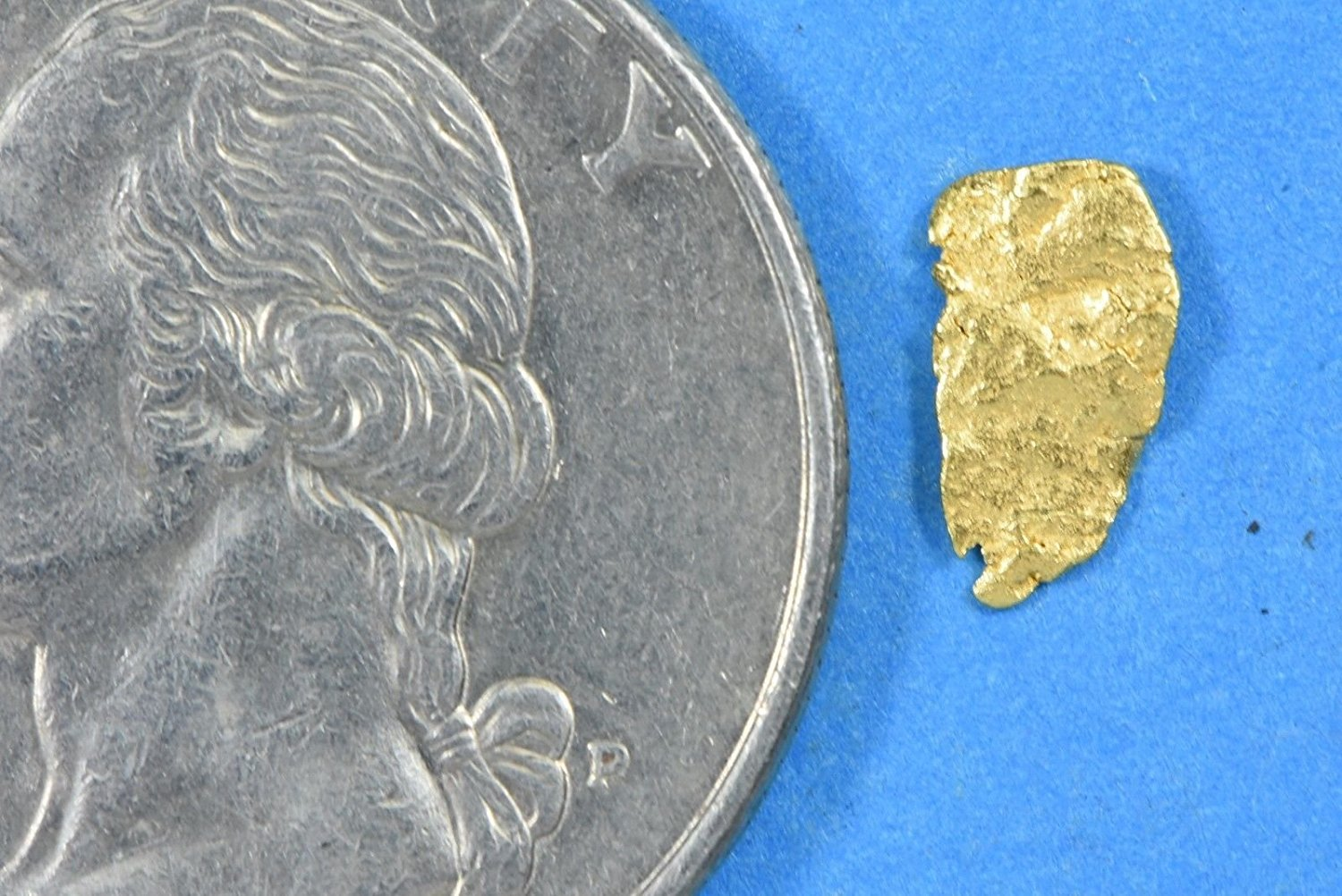 Alaskan-Yukon Bc Gold Rush Natural Nugget 0.16 Grams Genuine Alaska .10-.34