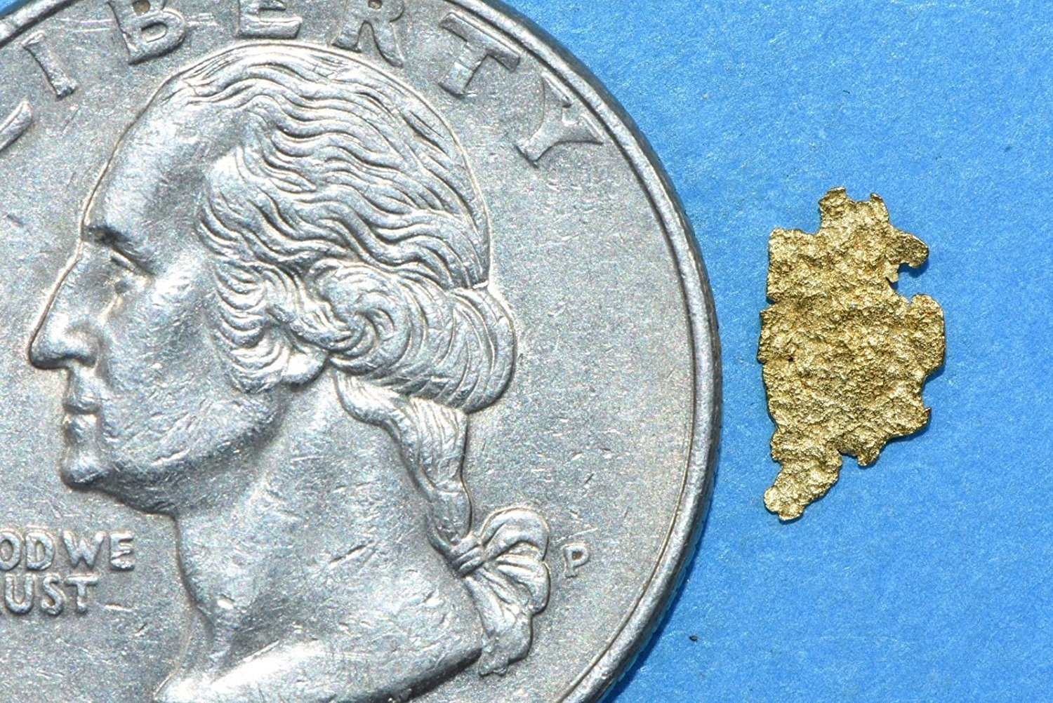 Alaskan-Yukon Bc Gold Rush Natural Nugget 0.10 Grams Genuine Alaska .10-.34