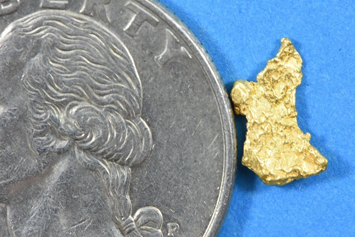 Alaskan-Yukon Bc Gold Rush Natural Nugget 0.27 Grams Genuine Alaska .10-.34