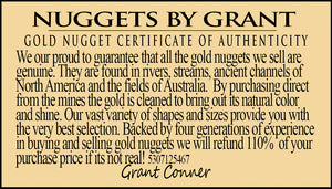 "Large Natural Gold Nugget Australian 677.46 Grams 21.78 Troy Ounces ""The Bear"""