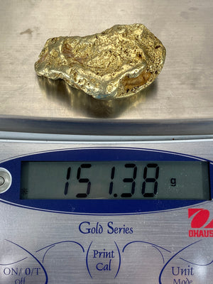 Nevada Electrum Natural Gold Nugget 151.38 Grams - 4.86 Troy Ounces. Very Rare
