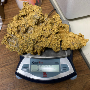 "Large Natural Gold Nugget Australian 3,679.2 Grams 118.30 Troy Ounces""Hello There"""