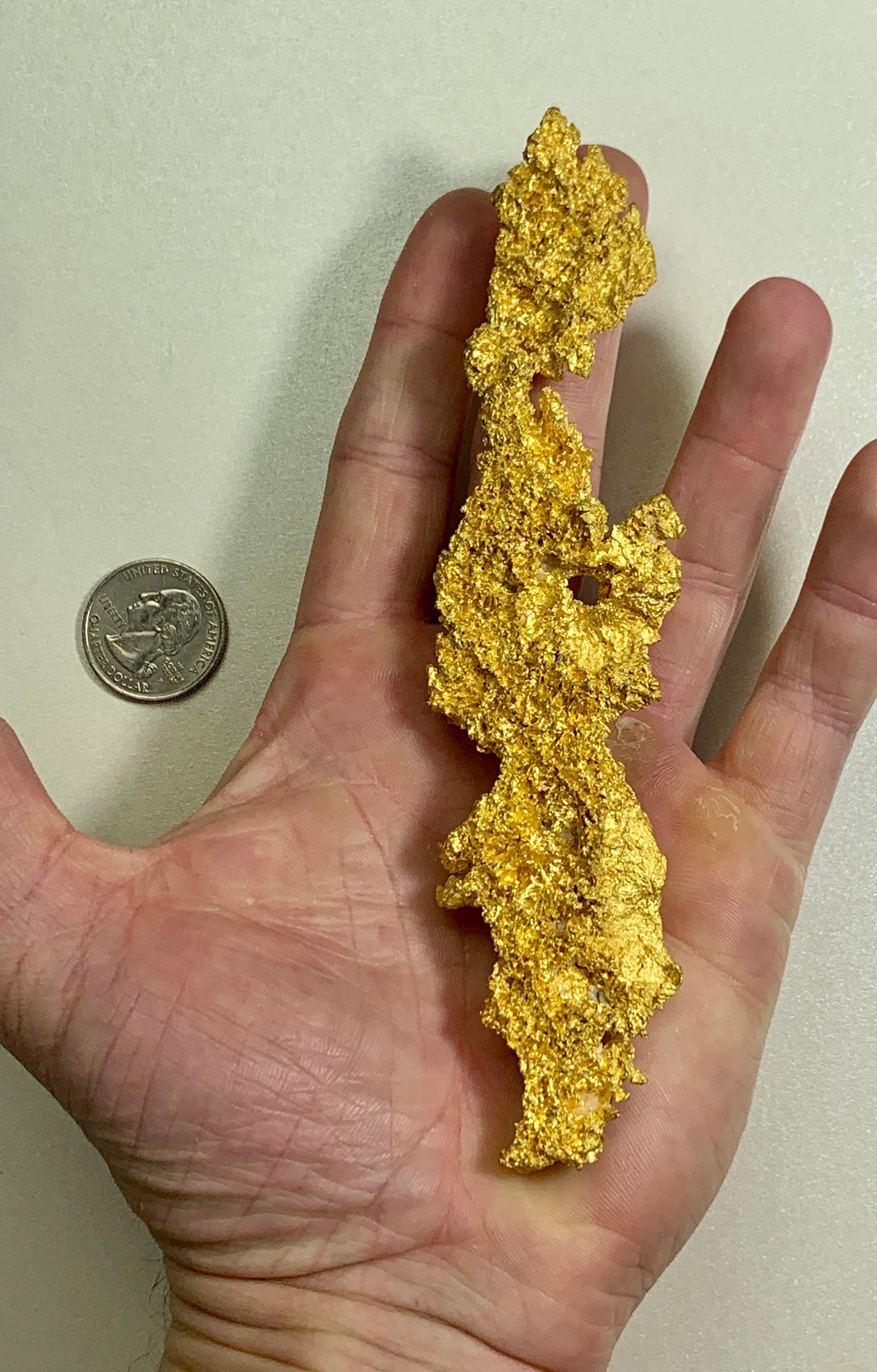 "Large Natural Gold Nugget Australian 290.42 Grams 9.33 Troy Ounces Very Rare "" Crystalline"""""