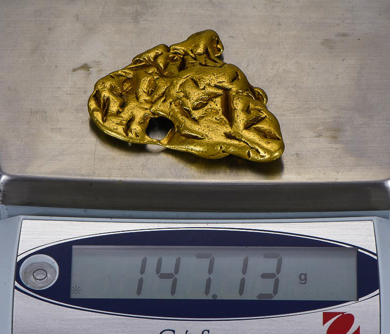 "Very Rare Death Valley Gold Nugget 147.13 Grams ""Gold Mine""  4.70 Troy Oz. Authentic"