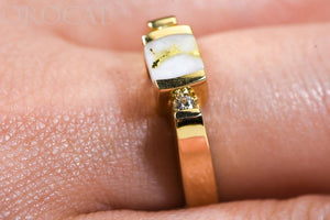 "Gold Quartz Ladies Ring ""Orocal"" RL842D10Q Genuine Hand Crafted Jewelry - 14K Gold Casting"