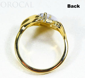 "Gold Quartz Ladies Ring ""Orocal"" RL1137DQ Genuine Hand Crafted Jewelry - 14K Gold Casting"