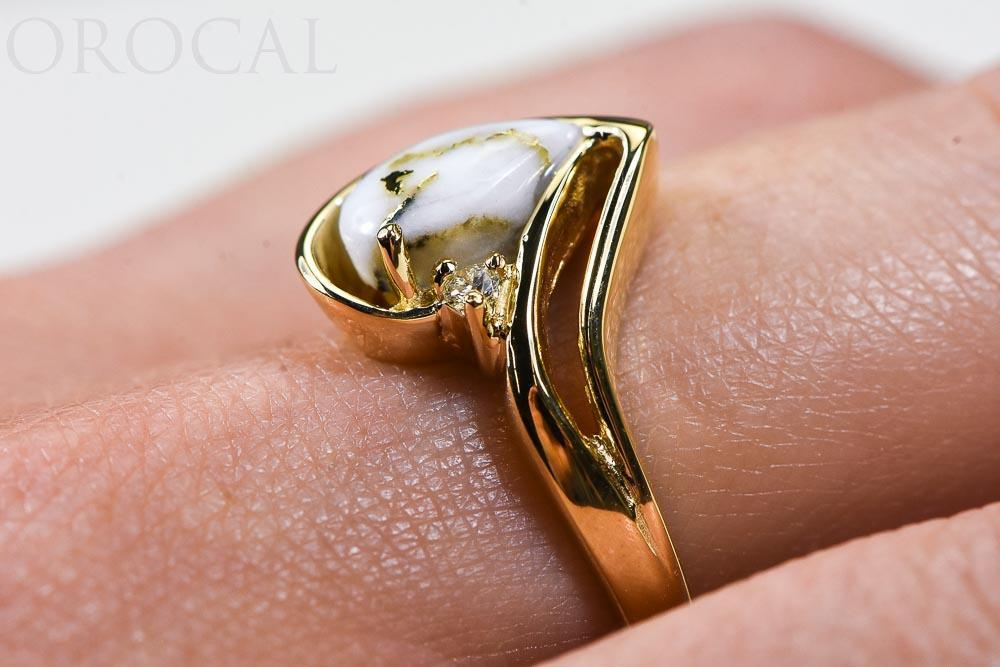 "Gold Quartz Ladies Ring ""Orocal"" RL739D3Q Genuine Hand Crafted Jewelry - 14K Gold Casting"