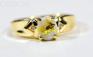 "Gold Quartz Ladies Ring ""Orocal"" RL736D3Q Genuine Hand Crafted Jewelry - 14K Gold Casting"