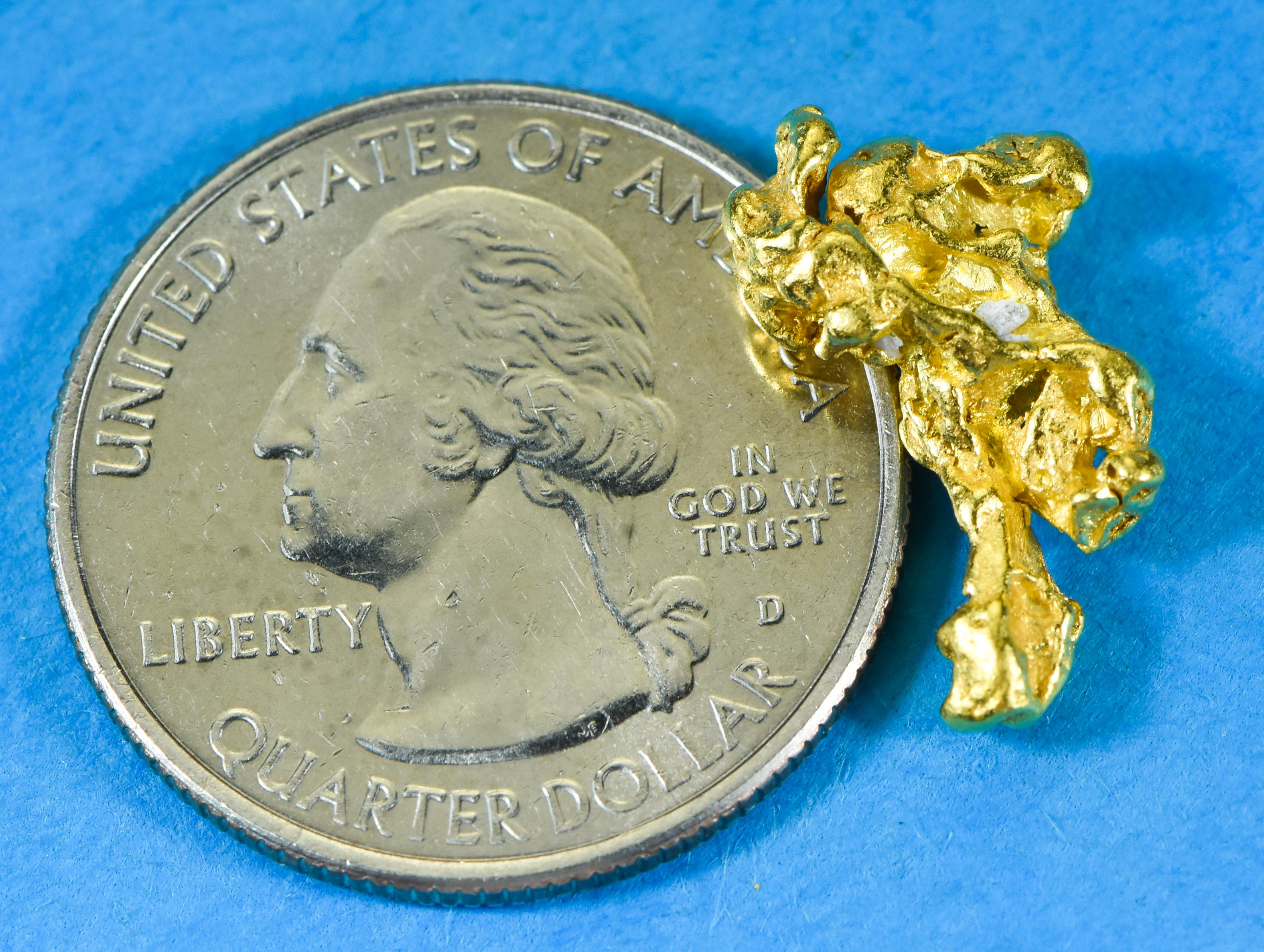 Mens Gold Nugget Ring Orocal Rm8Mm Genuine Hand Crafted Jewelry - 14K Casting