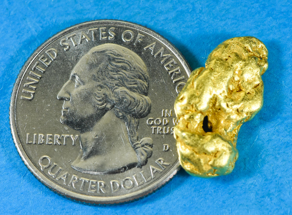 #1010 Australian Natural Gold Nugget 3.67 Grams Genuine