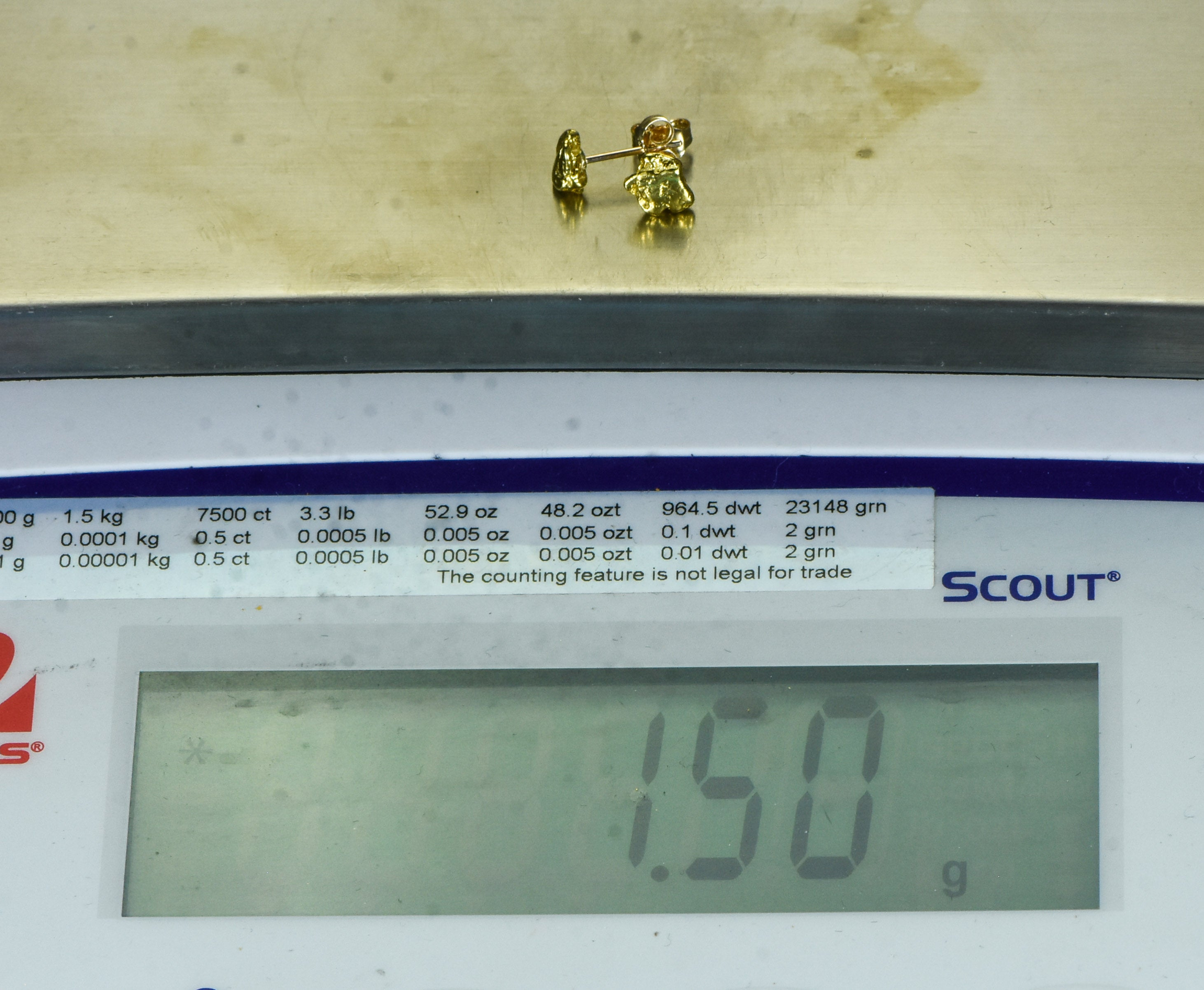 #601 Alaskan-Yukon BC Natural Gold Nugget Pendant 1.42 Grams Authentic