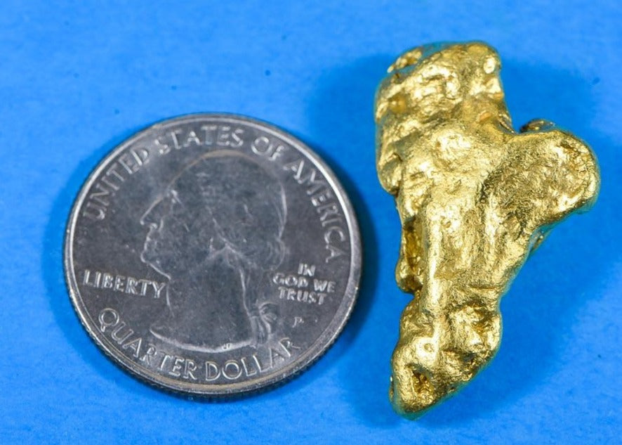 #217 Alaskan BC Natural Gold Nugget 2.41 Grams Genuine