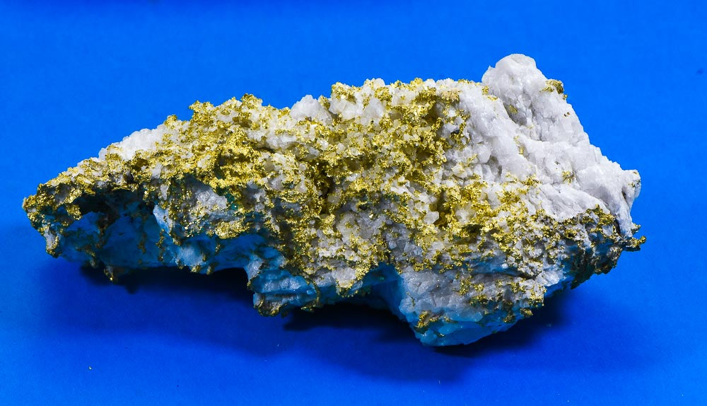 Large Gold Bearing Quartz Specimen Original 16-1 Mine California 1155.92 Grams 37.16 OZ Genuine