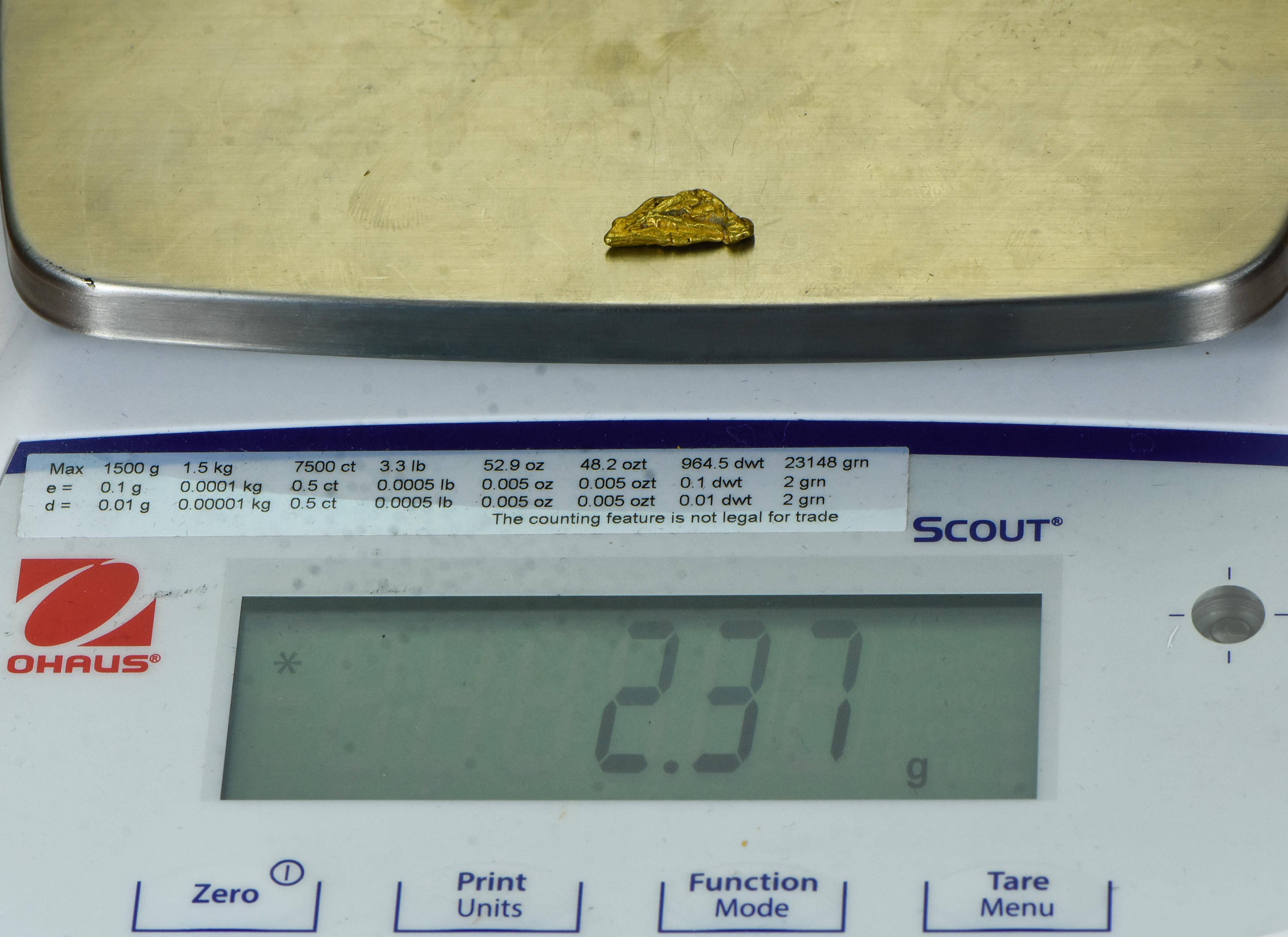 #418A Alaskan BC Natural Gold Nugget 8.28 Grams Genuine
