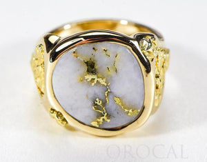 "Gold Quartz Ring ""Orocal"" RM832Q Genuine Hand Crafted Jewelry - 14K Gold Casting"