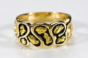 "Gold Nugget Men's Ring ""Orocal"" RM515 Genuine Hand Crafted Jewelry - 14K Casting"