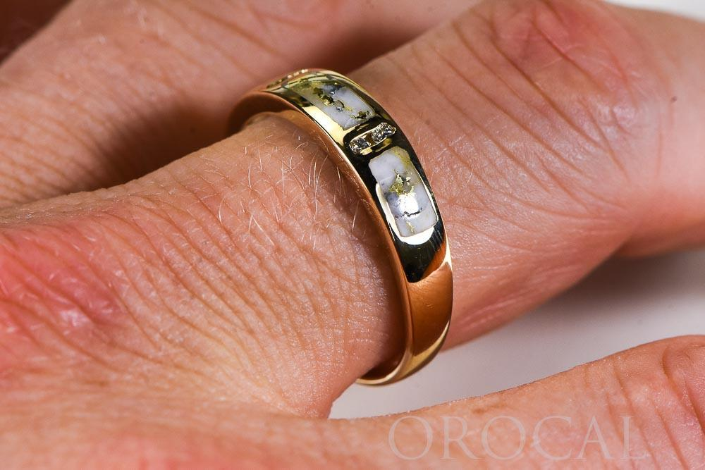 "Gold Quartz Ring ""Orocal"" RM733D8Q Genuine Hand Crafted Jewelry - 14K Gold Casting"