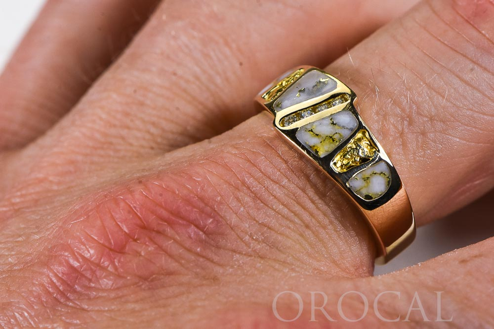 "Gold Quartz Ring ""Orocal"" RM882D8NQ Genuine Hand Crafted Jewelry - 14K Gold Casting"