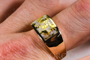 "Gold Quartz Ring ""Orocal"" RM1005Q Genuine Hand Crafted Jewelry - 14K Gold Casting"