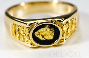 "Gold Nugget Men's Ring ""Orocal"" RM73 Genuine Hand Crafted Jewelry - 14K Casting"