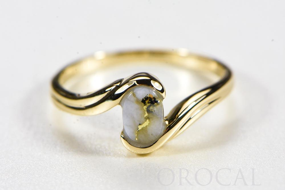 "Gold Quartz Ladies Ring ""Orocal"" RLJ30Q Genuine Hand Crafted Jewelry - 14K Gold Casting"