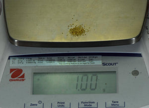 Sonora Gold Nuggets 1 Gram of #30 Mesh Gold Authentic Natural
