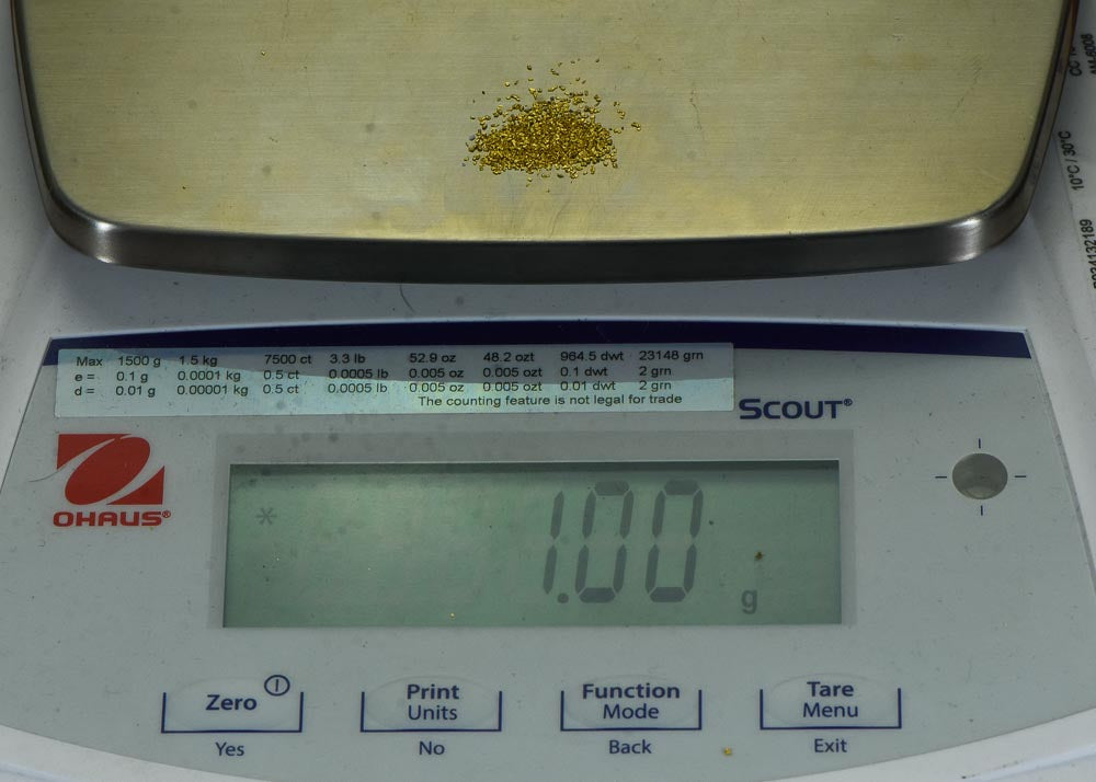 Sonora Gold Nuggets 1 Gram of #50 Mesh Gold Authentic Natural