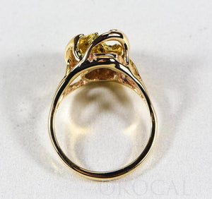 "Gold Nugget Ladies Ring ""Orocal"" RL958N Genuine Hand Crafted Jewelry - 14K Casting"