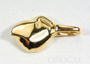 "Gold Nugget Pendant ""Orocal"" PN390 Genuine Hand Crafted Jewelry - 14K Gold Casting"