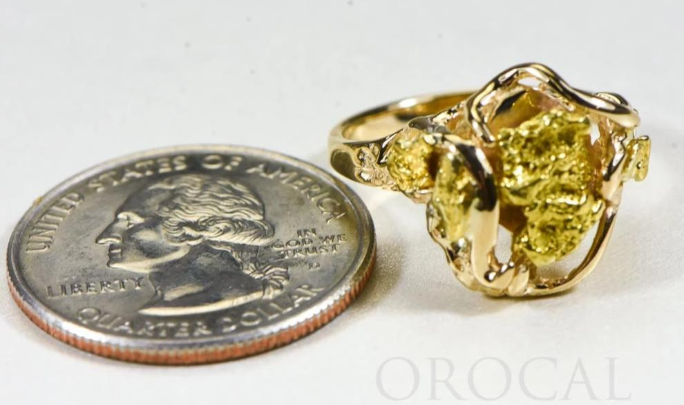 "Gold Nugget Ladies Ring ""Orocal"" RL232 Genuine Hand Crafted Jewelry - 14K Casting"
