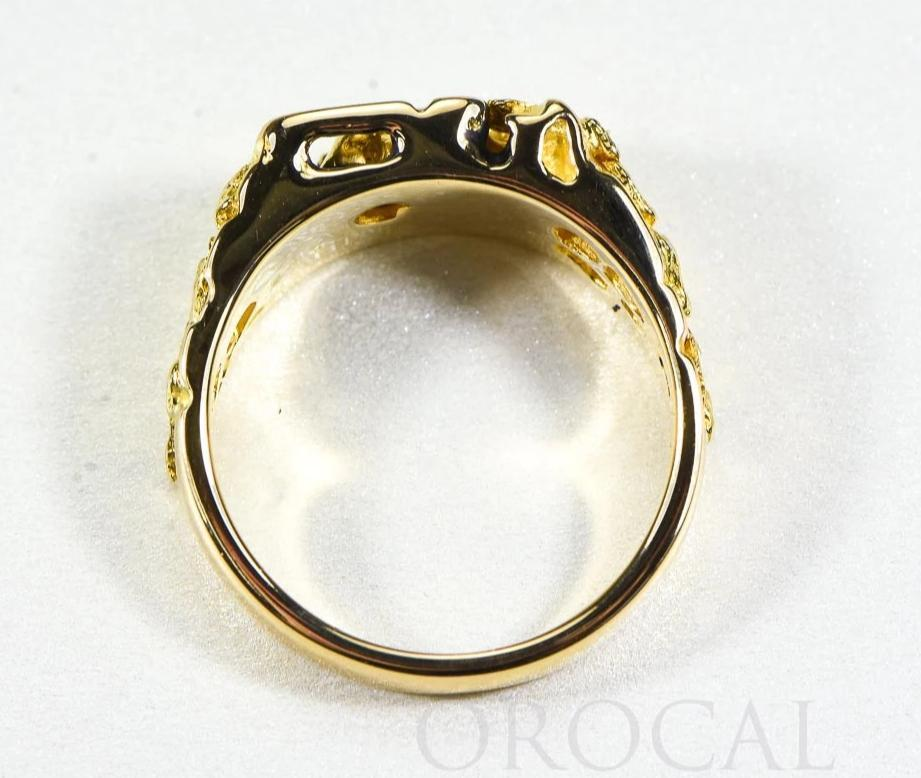 "Gold Nugget Men's Ring ""Orocal"" RM176 Genuine Hand Crafted Jewelry - 14K Casting"