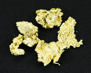 "L-77 Alaskan Yukon BC Leaf Gold Nugget "" Rare Genuine"" 3.44 Grams"