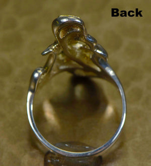 "Gold Nugget Ladies Ring ""Orocal"" RL469NSS Genuine Hand Crafted Jewelry"