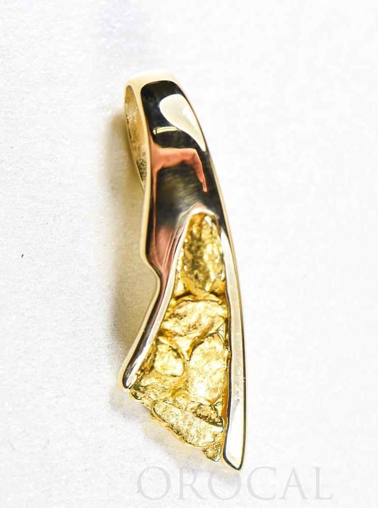 "Gold Nugget Pendant ""Orocal"" PDL129NX Genuine Hand Crafted Jewelry - 14K Gold Yellow Gold Casting"