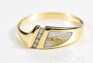 "Gold Quartz Ladies Ring ""Orocal"" RL1058DQ Genuine Hand Crafted Jewelry - 14K Gold Casting"