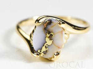 "Gold Quartz Ladies Ring ""Orocal"" RL1010Q Genuine Hand Crafted Jewelry - 14K Gold Casting"