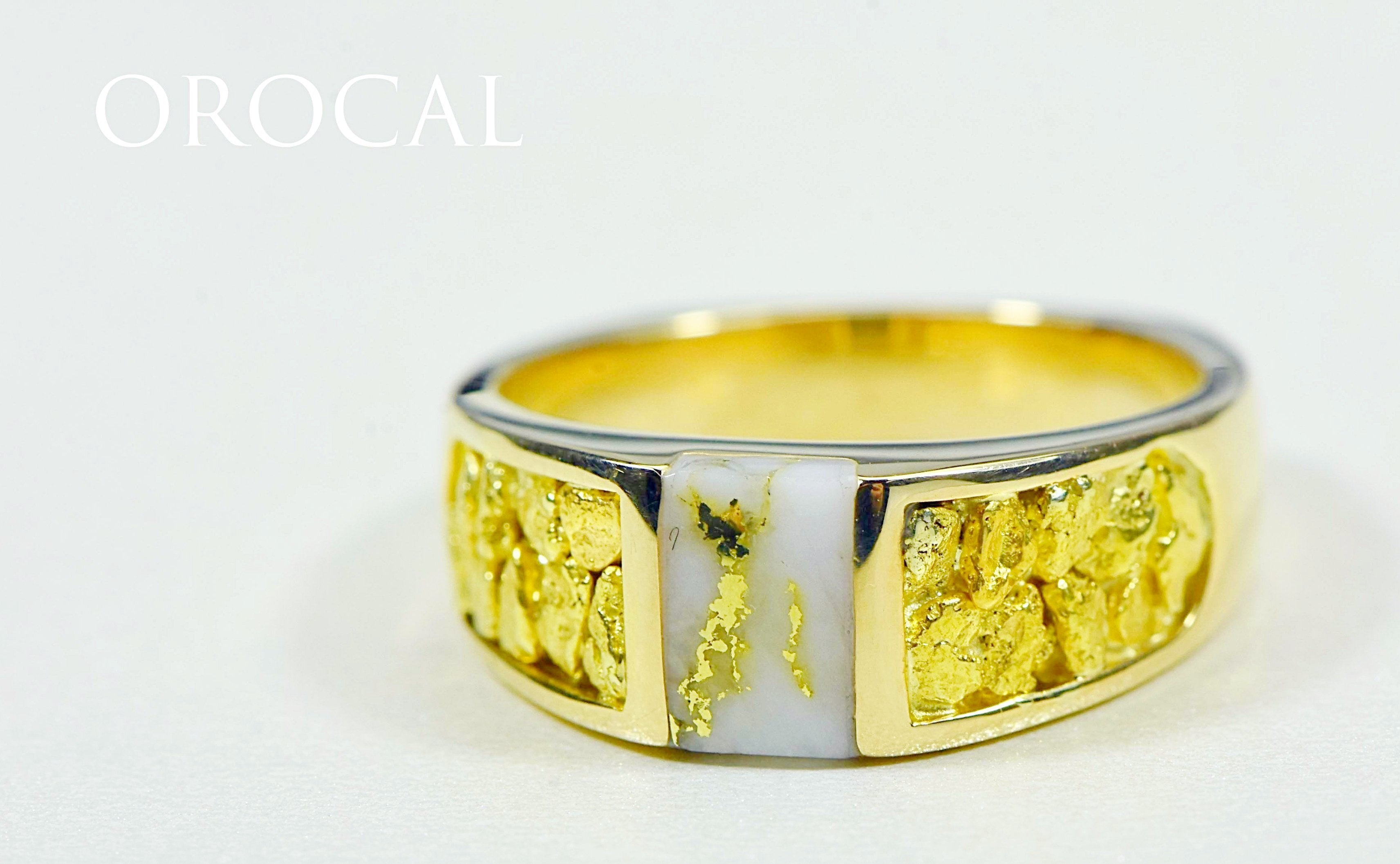 "Gold Quartz Ring ""Orocal"" RLL1359NQ Genuine Hand Crafted Jewelry - 14K Gold Casting"