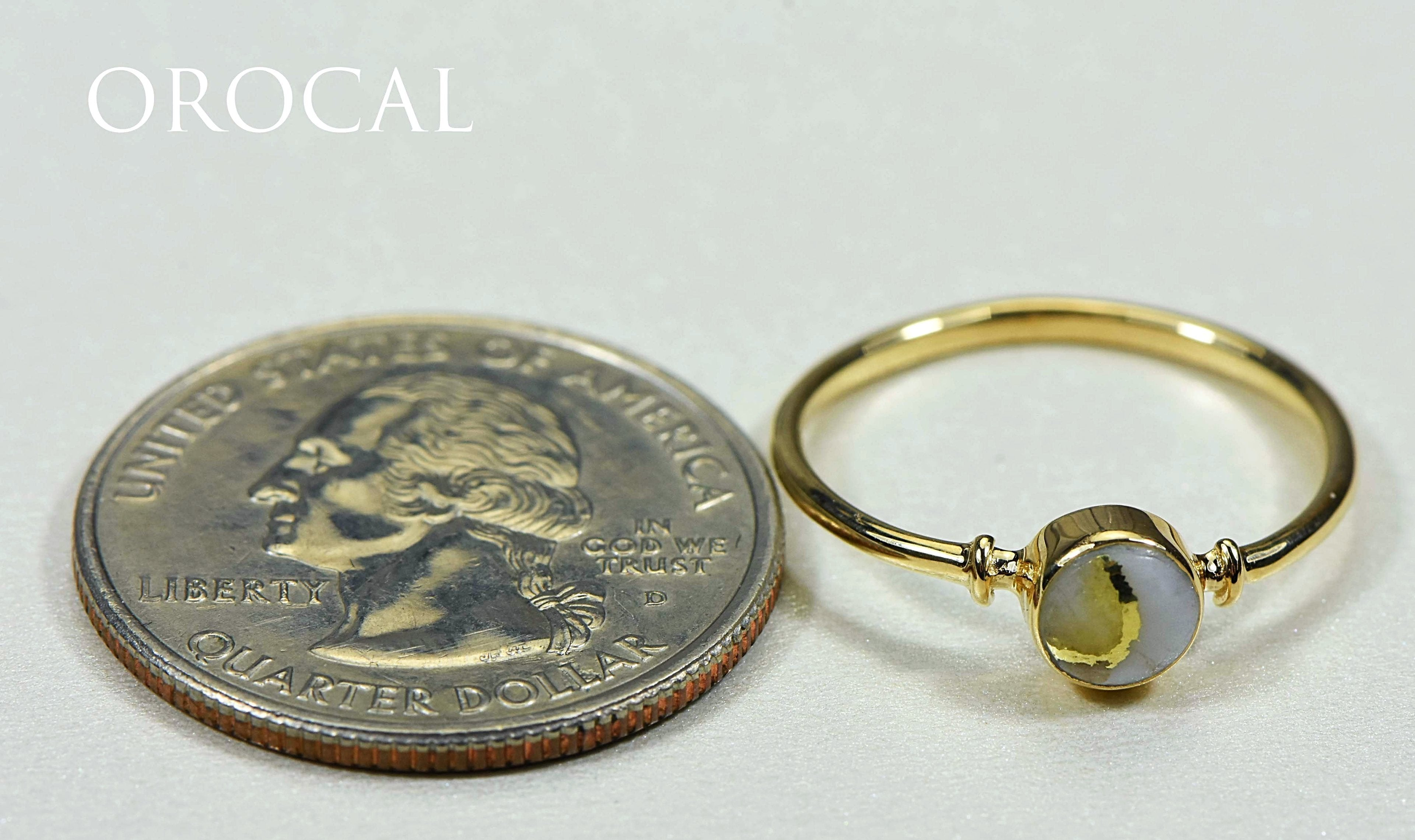 "Gold Quartz Ring ""Orocal"" RL680Q Genuine Hand Crafted Jewelry - 14K Gold Casting"