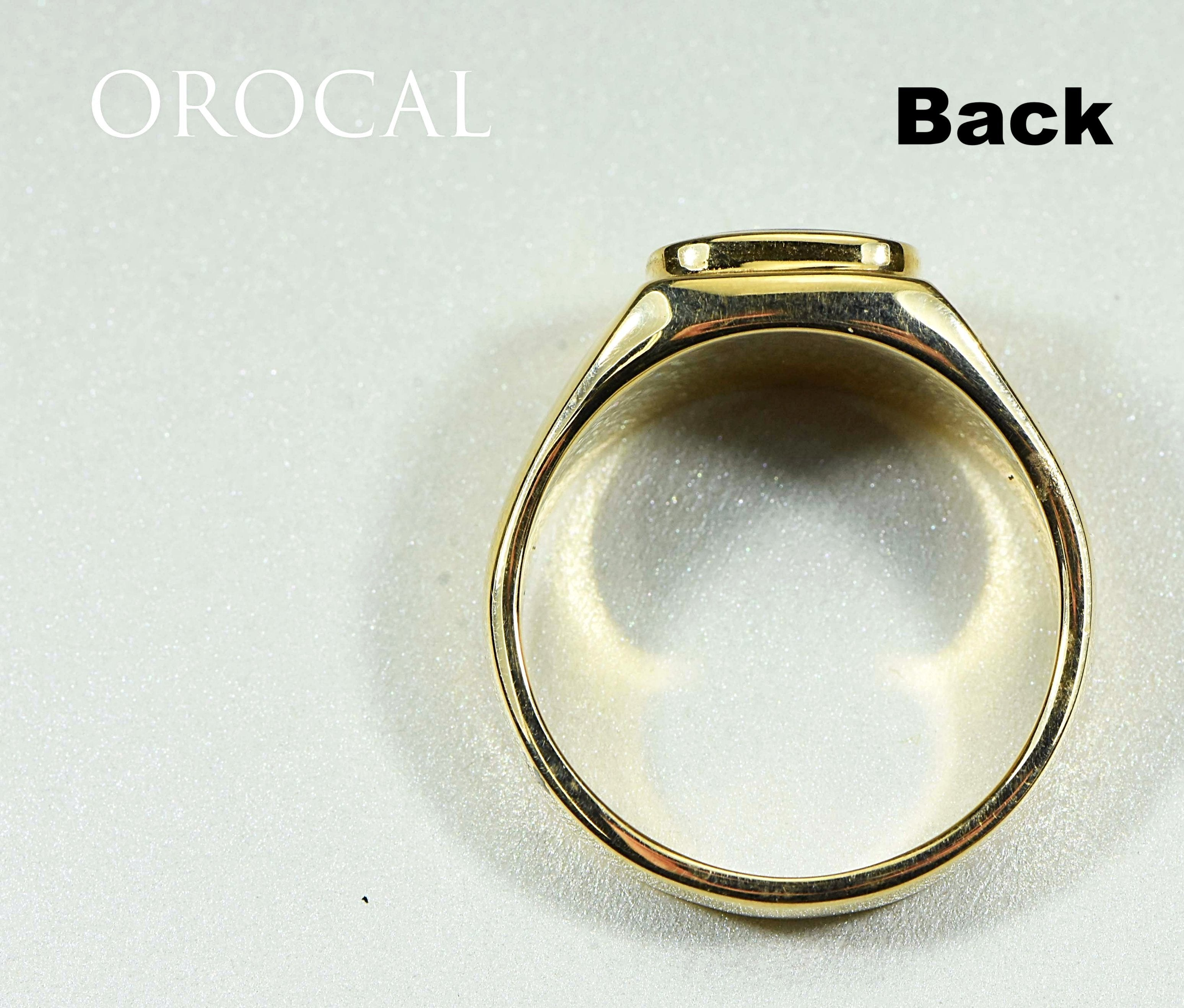 "Gold Quartz Ring ""Orocal"" RM774XNQ Genuine Hand Crafted Jewelry - 14K Gold Casting"