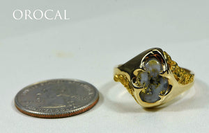 "Gold Quartz Ring ""Orocal"" RMEQ109 Genuine Hand Crafted Jewelry - 14K Gold Casting"