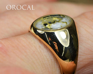 "Gold Quartz Ring ""Orocal"" RM595XNQ Genuine Hand Crafted Jewelry - 14K Gold Casting"