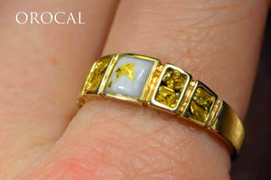 "Gold Quartz Ring ""Orocal"" RM1045NQ Genuine Hand Crafted Jewelry - 14K Gold Casting"