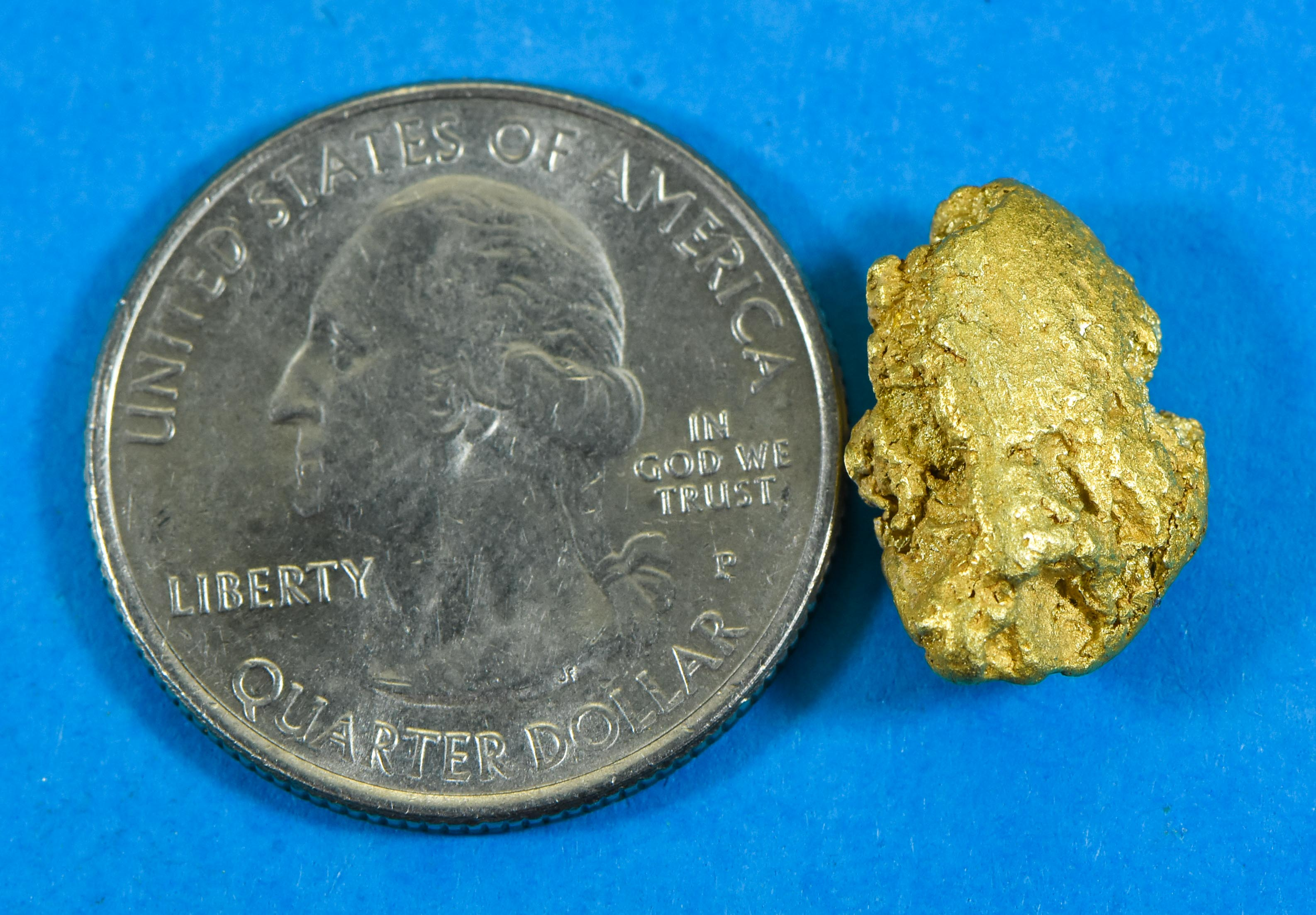 #587 Alaskan-Yukon BC Natural Gold Nugget Pendant 9.85 Grams Authentic