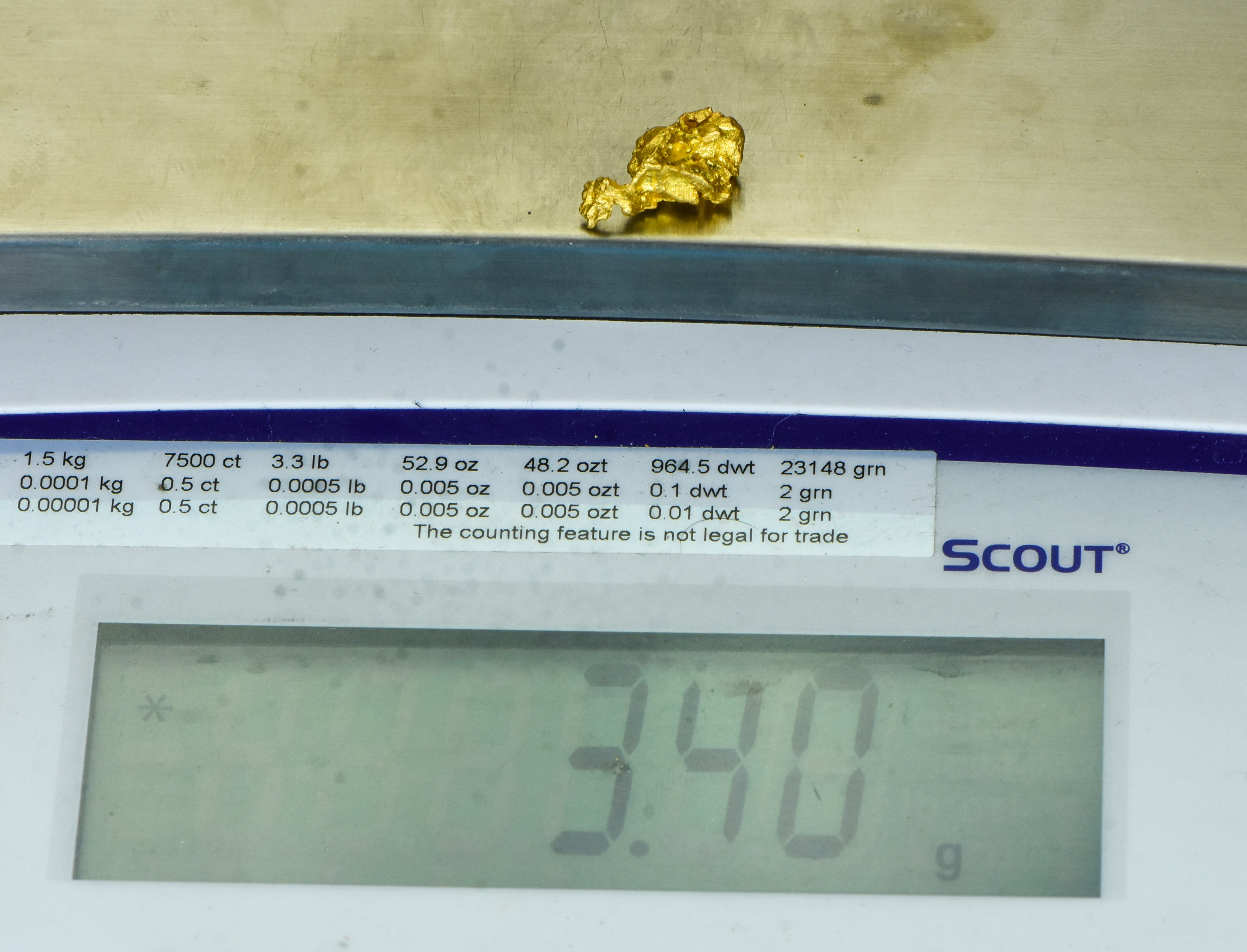 "L-33 Alaskan BC Dendritic Exotic Shaped Gold Nugget ""Special Collection"" 2.24 Grams"