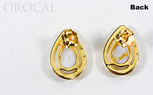 "Gold Quartz Earrings ""Orocal"" EN442MQ Genuine Hand Crafted Jewelry - 14K Gold Casting"